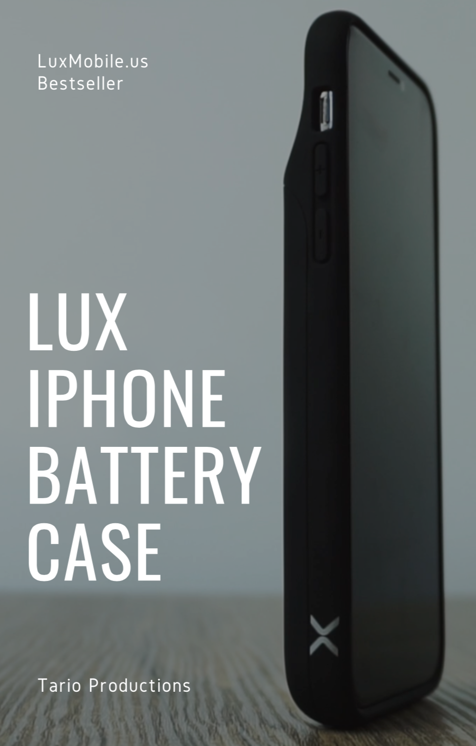 new arrival d0e68 7aec3 Lux iPhone Battery Case - Tario Productions